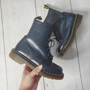 Dr. Martens 1460 Smooth Navy Blue Combat Boots
